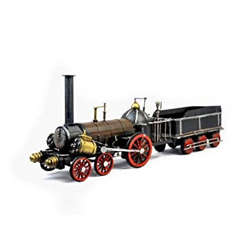 VJUKUB Antigüedad Antigua máquina de Vapor de Tren Modelo hojalata Hecho a Mano Arte Retro de