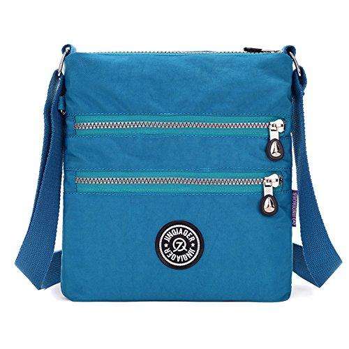 Mujer Ligero Deporte Bolsos Bandolera Bolso Moda Bolsas de de Bolsos Pequeña para Impermeable Tablet Outreo de Escuela Azul Viaje Casual Bolsas 2 yOvqcBBWt