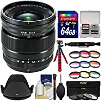 Fujifilm 16mm f/1.4 XF R WR Lens with 3 UV/CPL/ND8 & 9 Colored Filters + 64GB Card + Tripod + Hood + Kit
