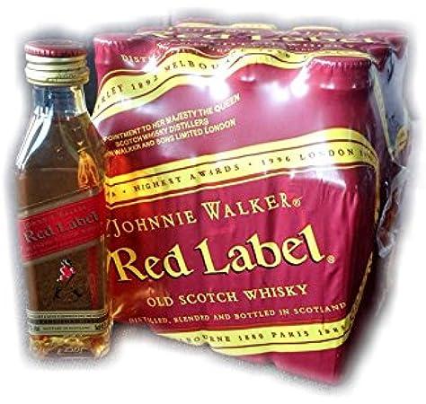 Pack 12 Botellita Whisky Johnnie Walker Red Label 50ml Miniature ...