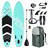 FBSPORT 10ft / 3m PVC Inflatable Stand Up Paddle Board Set Pump Surfboard Paddle Set Suitable Paddlers Ideal Inflatable Paddleboard Kit