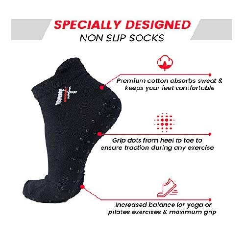 Pure Barre Socks for Woman Maximum Grip Non Skid Socks for Women