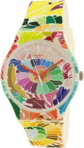 Swatch Women's Gent SUOW126 Multicolor Silicone Swiss Quartz Watch