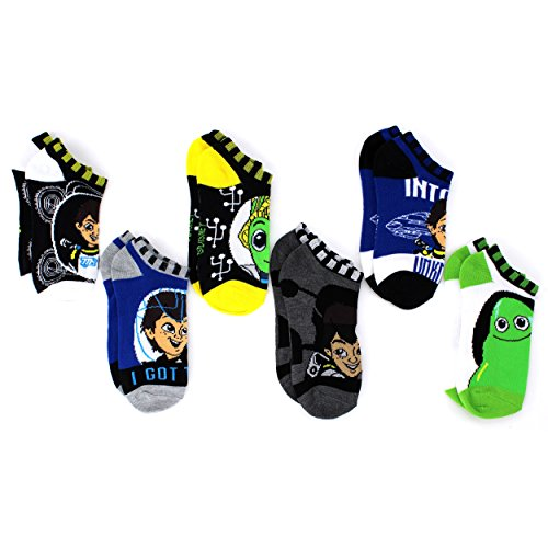 Miles from Tomorrowland Boys 6pk Ankle Socks (6-8 Youth (shoe: 10.5-4)) -