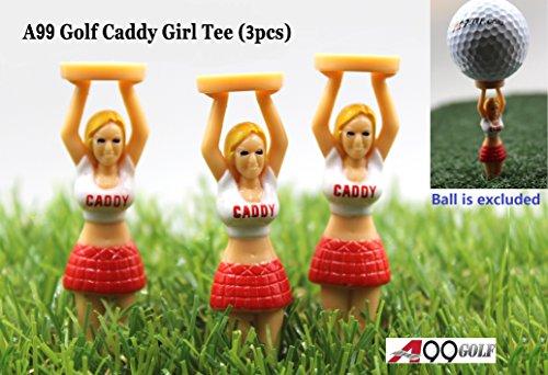 3pcs/pack A99 Golf Caddy Girl Tees in PVC box - (Girl Caddy)