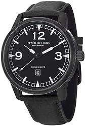 Stuhrling Original Men's 1129Q.04 Tuskegee Condor Swiss Quartz Date Black Watch