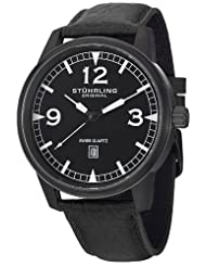 Stuhrling Original Men's 1129Q.04 Aviator Tuskegee Condor Swiss Quartz Date Black Watch
