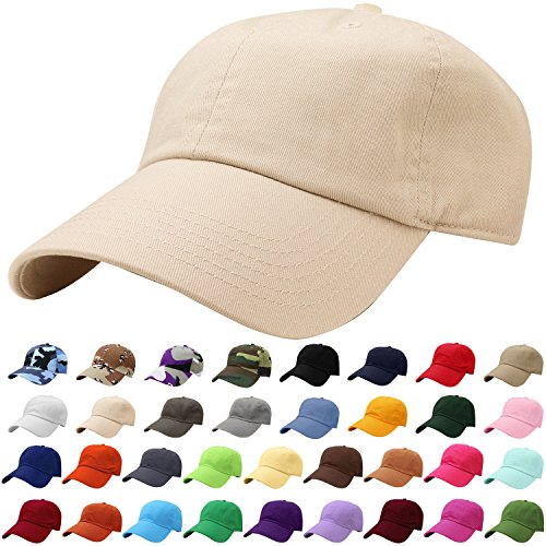 Falari Baseball Cap Hat 100% Cotton Adjustable Size Putty 1806
