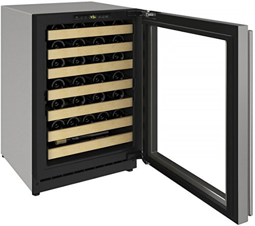 U-Line U2224WCS15A 2000 Series 24 Inch Built-In and Freestanding Single Zone Wine Cooler in Stainless Steel