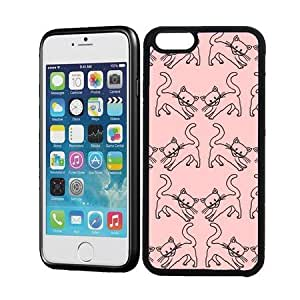 Baby Pink Cats Pattern Cute Hipster iPhone 6 Case - Fits iPhone 6