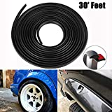 D-Lumian Fender Flare Edge Rubber Trim - Gasket Welting T-Style 30 Feet Length EPDM Trims for Car and Truck Wheel Wells, Bonds w/ 3M Automotive Grade Tape