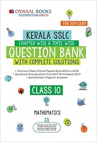 Oswaal Kerala SSLC Question Bank Class 10 Maths Chapterwise