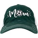 Ann Arbor T-shirt Co. Soccer Mom Hat | Cute Team Color Fan Cap for Women Black Red Blue Green Purple - Dark Green