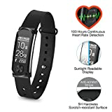 Q-Band Q-68HR Accurate Health & Fitness Tracker Watch - 100 Hours Heart Rate Monitor - Bluetooth Activity Tracker - Sunlight Readable Scratch-Resistant Big Screen - Pedometer Band