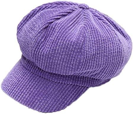 WOVELOT Sombreros Octagonales de Pana para Mujer Gorras ...