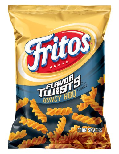 Fritos Corn Chips, Flavor Twists Honey Barbeque, 2-Ounce Large Single Serve Bags (Pack of 64)