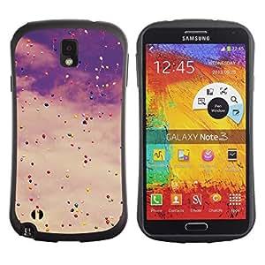 """Hypernova Slim Fit Dual Barniz Protector Caso Case Funda Para Samsung Note 3 [Viñeta cielo globos de cumpleaños del inconformista""""]"""
