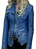 ABz Leathers Perfect Fitted The Flash S4 Caitlin Snow Blue Frost Denim Jacket (XS)