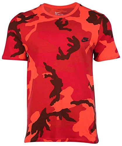 Nike Men's Futura Camo Sport Casual T-Shirt-Light Crimson-Large