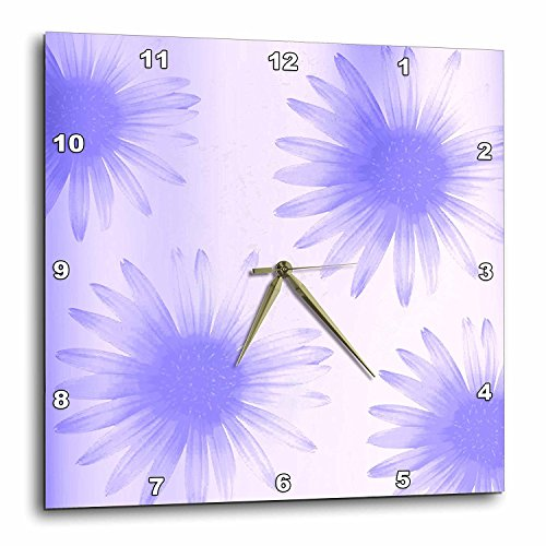 3dRose DPP_47718_1 Lilac Flowers Expressions Floral Art Nature Wall Clock, 10 by 10-Inch