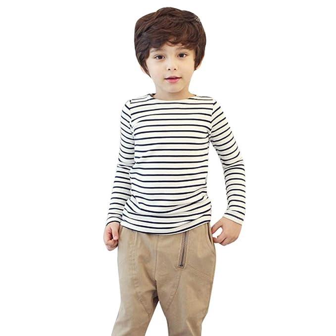 Bestow Niños BebéBlusas de Manga Larga Blusas Camiseta Larga con Rayas para  niños Ropa de Mujer fe8ff9d40c15