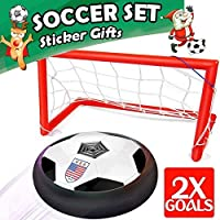 Kids Sport Toys - Hover Soccer Ball Set 2 Goals, Air...