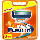 Gillette - Fusion - Hojas de afeitar con 5 palas - 8 piezas