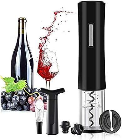 Sacacorchos Abridor De Botellas De Vino Eléctrico Sacacorchos Juego De Decantador De Aluminio Abridor Automático De Botellas Para Vino Tinto Con Papel