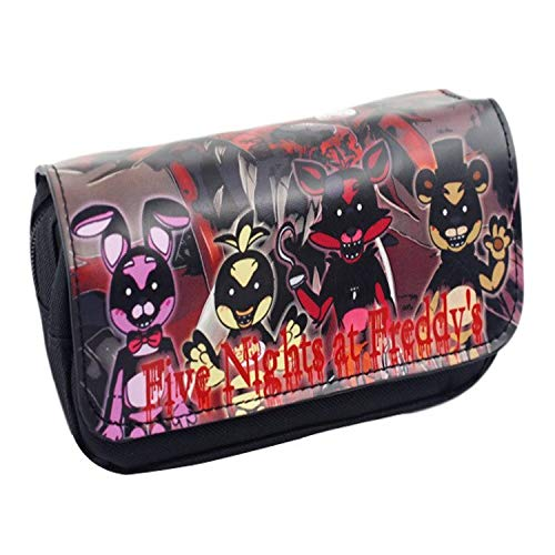 CHITOP Cartoon Pencil Pen Case Five Nights at Freddy`s/The Nightmare Before Christmas/Cosmetic Makeup Coin Pouch Zipper Bag (PBAG 001)