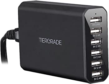 Tiergrade 60W 12A 6-Port USB Charging Station Desktop Charger