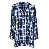 KAVU Women's Easton Button Down Shirts, Ocean Shores, Small