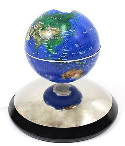 amazon com powertrc revolving globe geographic levitating 4 blue