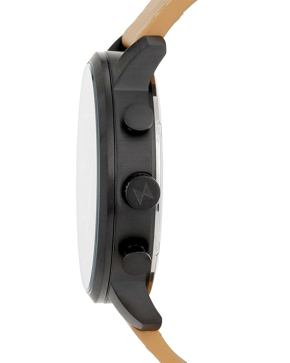 MVMT Reloj clásico de hombre, negro / Pulsera de piel, latón, MC01BTL: Amazon.es: Relojes