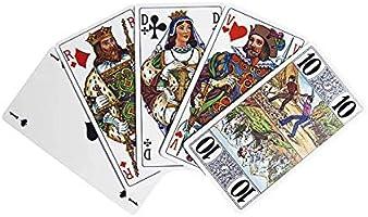 Fournier Tarot 78 Cartes A Jouer Luxe Plastifiees Lavables Dos Rouge Amazon Fr Jeux Et Jouets
