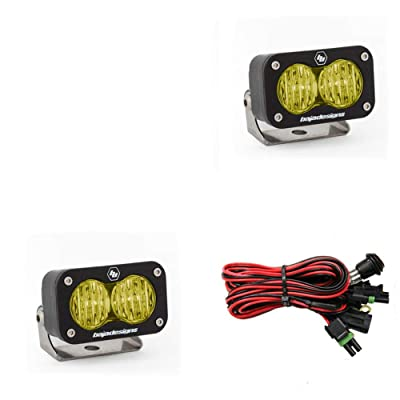 Baja Designs, 547815, LED Light, S2 Sport, Black, Wide Cornering, Amber, Pair: Automotive