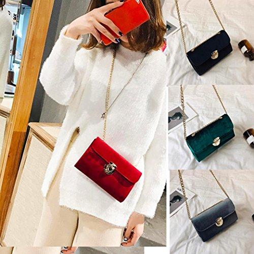 Damen Handtaschen, Huhu833 Frauen Tasche Pure Color Gold Velvet Messenger Bags Umhängetasche Grau