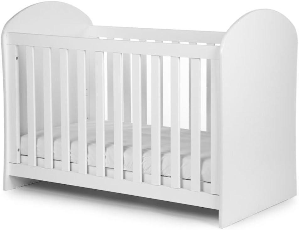 Child Home Cuna alegre 60 x 120 cm blanco somier de 3 ...