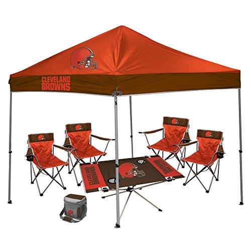 Cleveland Browns Pop Up Canopy Tent For Tailgating Camp