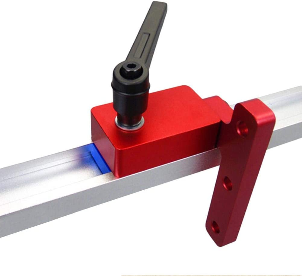 Red Zihui Woodworking Miter Track Stop For 30mm T-Slot T-Tracks Woodworking DIY Manual Tool Tools Miter Protective Durable T-Slot T-Tracks In Use Quick Handle Kit