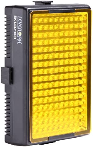Video Camcorder Sevenoak SK-LED160B High Intensity 6000 MCD 160 LED Video Light for Camera Black
