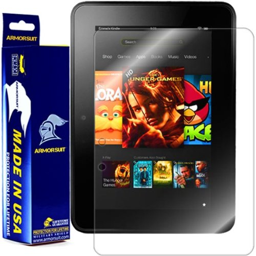ArmorSuit Kindle Fire 7 inch (2012, 1st Gen) Screen Protector Max Coverage MilitaryShield Screen Protector For Kindle Fire 7 inch (2012, 1st Gen) - HD Clear Anti-Bubble