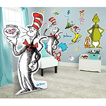 Wall Decals & Vinyl Art Wall Décor Professional Sale One Fish Two Fish Red Fish Blue Fish Dr Seuss Kids Wall Decal Peel And Stick Fixing Prices According To Quality Of Products