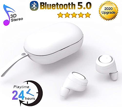 MEIOUBO Bluetooth Headphones Wireless Earbuds Bluetooth 5.0 Noise Canceling Headphones 24H Playtime Bass Sound Mini in Ear Bluetooth Earphones with Built in Mic for Huawei Samsung Android Airpods