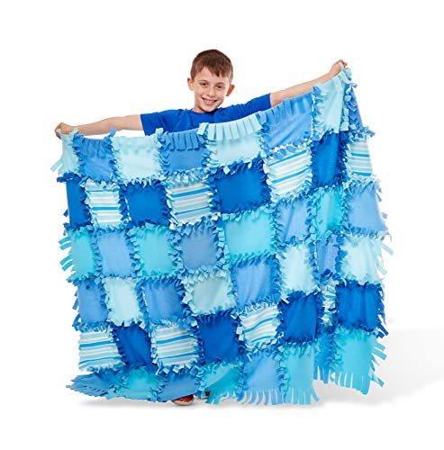 Created by Me! Striped Fleece Quilt No-Sew Craft Kit (48 Squares, 4' x 5'), Multicolor ()