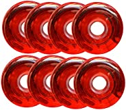 83A PU Wear Resist Inline Skate Replacement Wheels Without Bearings (Pack of 8) for Skate and Sliding Roller i