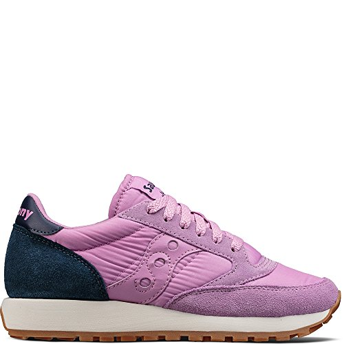 Saucony Originals Women's Jazz Original Sneaker, Lavender Charcoal, 8 Medium (Lavender Leather Footwear)