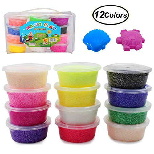 Fruit Coconut Cotton Crystal Mud Snow Mud Beads Kids Learning Education Modeling Clay Toy Funny Birthday Gift Bright And Translucent In Appearance Modeling Clay Learning & Education