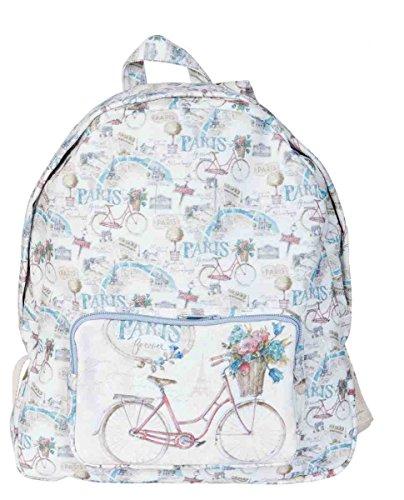 Clayre & Eef BAG243 Rucksack Tasche PARIS forever ca. 31 x 11 x 36 cm