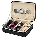 Travel Handbag Sunglass Watch Jewelry Zippered Case Storage Organizer With Removable Board