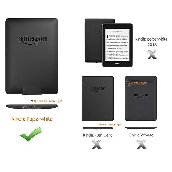 DATOUDATOU Glitter Bling Caso de Amazon Kindle Paperwhite 1/2/3 ...